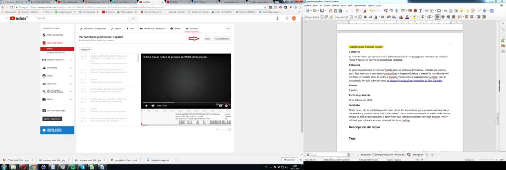 optimizar subtitulos youtube